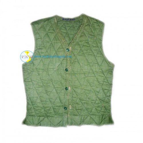 Áo rét trấn thủ quân đội mầu rêu vải si thô ( Kiểu gi lê, 3 lớp )